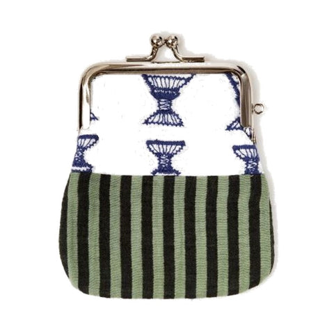 "NUNO Coin Purse: ""OriOri"" (Blue/Green/White)"