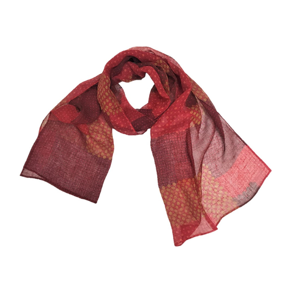 "NUNO Scarf: ""In & Out"" (Red)"