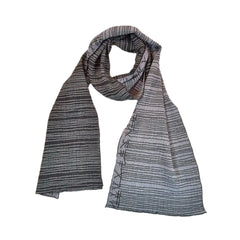 "NUNO Narrow Shawl: ""Kana"" (Blue)"