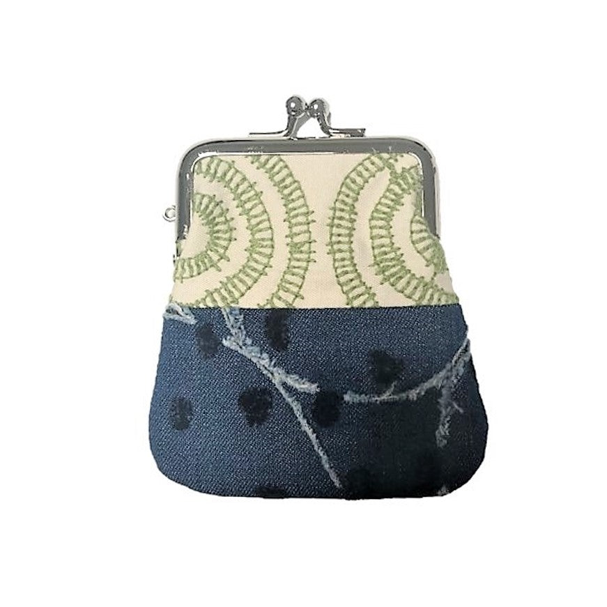 "NUNO Coin Purse: ""OriOri"" (Green/Navy)"