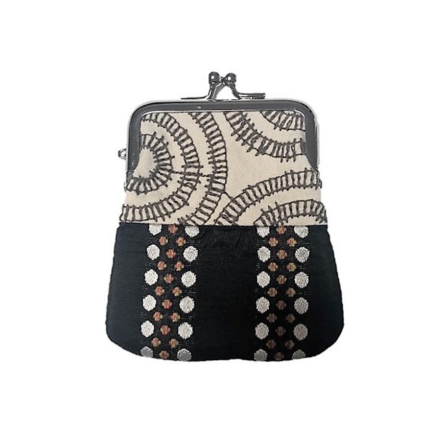 "NUNO Coin Purse: ""OriOri"" (Gray/Black)"