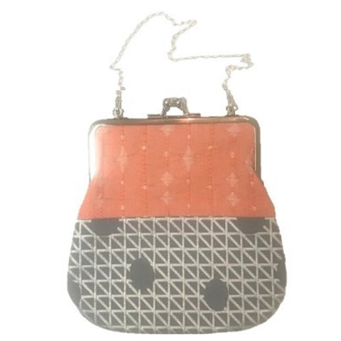 "NUNO Purse: ""OriOri"" (Orange, Silver, Gray)"