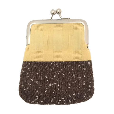 "NUNO Coin Purse: ""OriOri"" (Mustard/Brown)"
