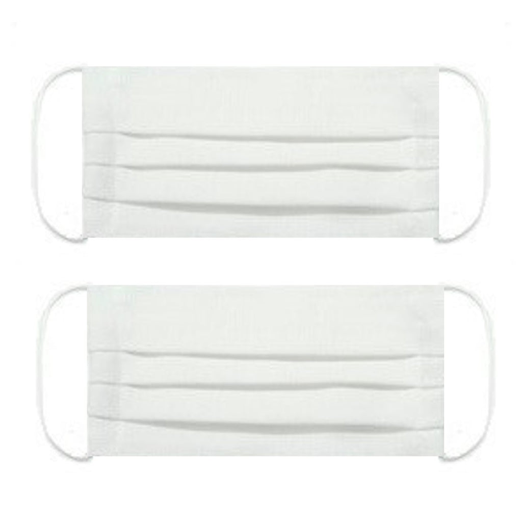 "NUNO Pleated Facemask 2-Piece Set: ""Omi"" (White)"