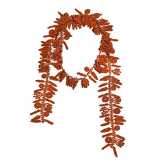 "NUNO Necklace: ""Date Palm"" Lace (Burnt Orange)"
