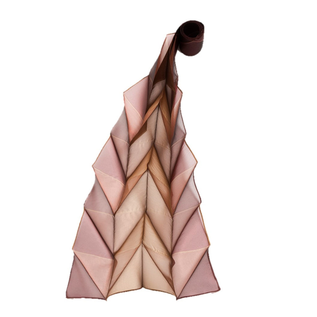 "NUNO Scarf: ""Origami Pleats"" (Gold)"