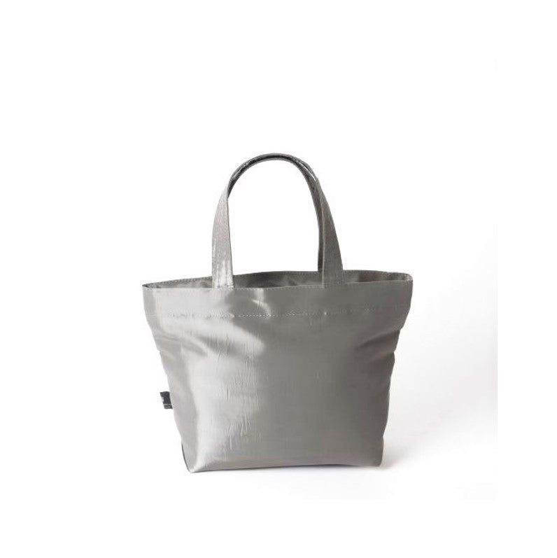"NUNO Tote: ""Coal"" (Small, Silver)"