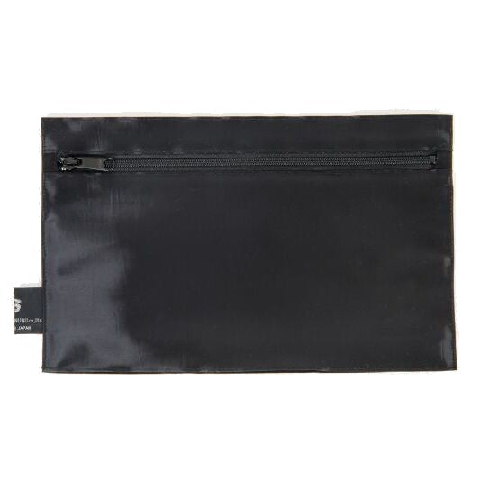 "NUNO Zippered Pouch: ""Coal"" (Ebony)"
