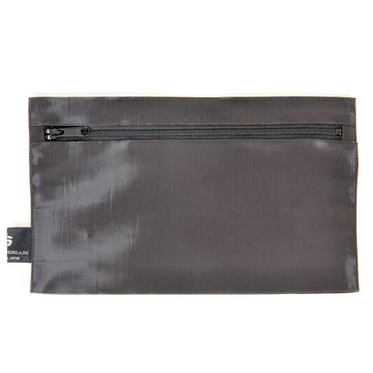 "NUNO Zippered Pouch: ""Coal"" (Slate)"