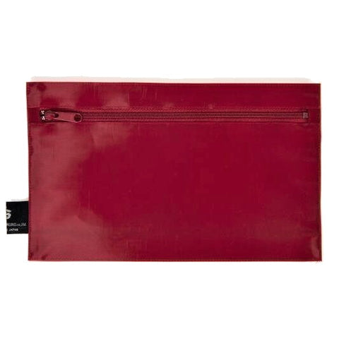 "NUNO Zippered Pouch: ""Coal"" (Carmine)"