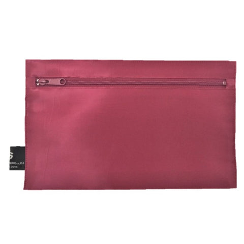 "NUNO Zippered Pouch: ""Coal"" (Orchid)"