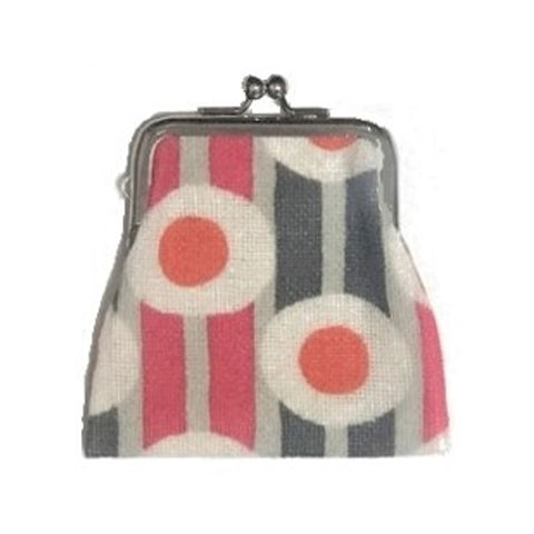 "NUNO Coin Purse: ""Silkscreened"" (Orange/Pink/Gray)"