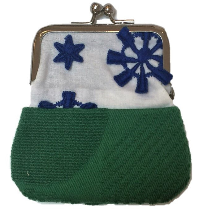 "NUNO Coin Purse: ""OriOri"" (White/Blue/Green)"