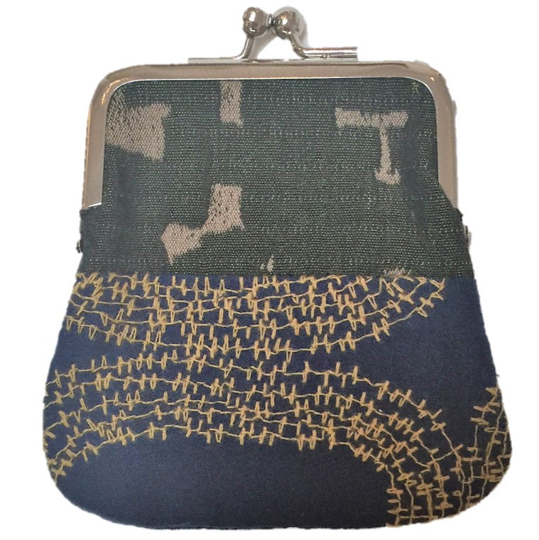 "NUNO Coin Purse: ""OriOri"" (Navy/Gold/Green)"