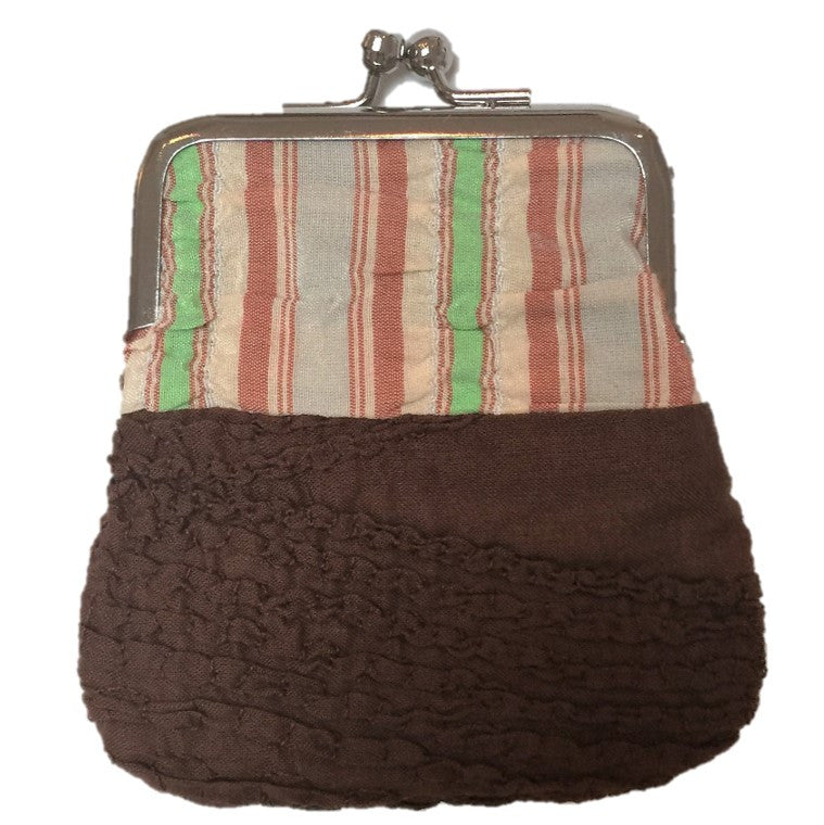 "NUNO Coin Purse: ""OriOri"" (Brown/Beige/Green)"