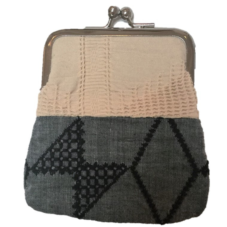 "NUNO Coin Purse: ""OriOri"" (Beige/Black)"
