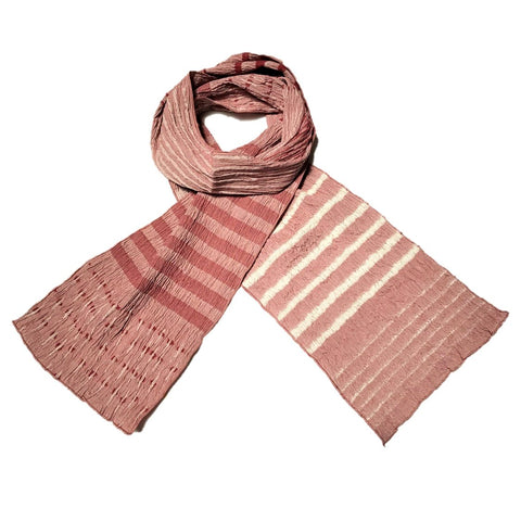 "NUNO Scarf: ""Fold Up"" (Red/White)"