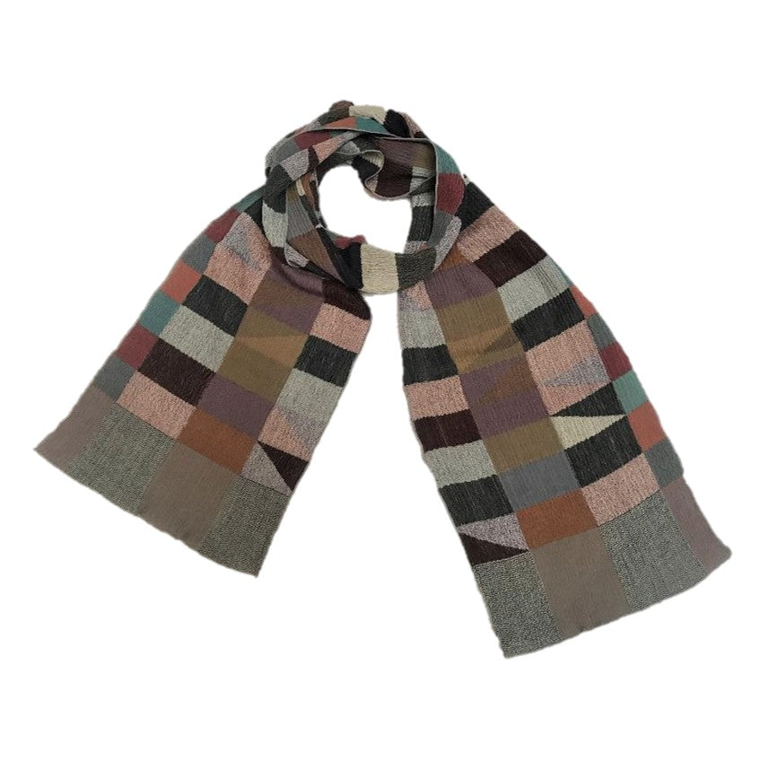 "NUNO Narrow Shawl: ""Rhombus"" (Multicolored)"
