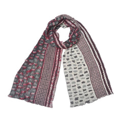 "NUNO Narrow Shawl: ""Shards"" (Red Mix)"