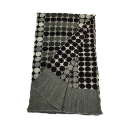 "NUNO Shawl: ""Circle Bricks"" (Black/White)"