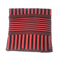 "NUNO Scarf: ""Stripy Stripe"" (Red/Black, Wide)"