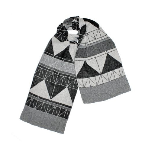 "NUNO Narrow Shawl: ""Fold Away"" (Black/White)"