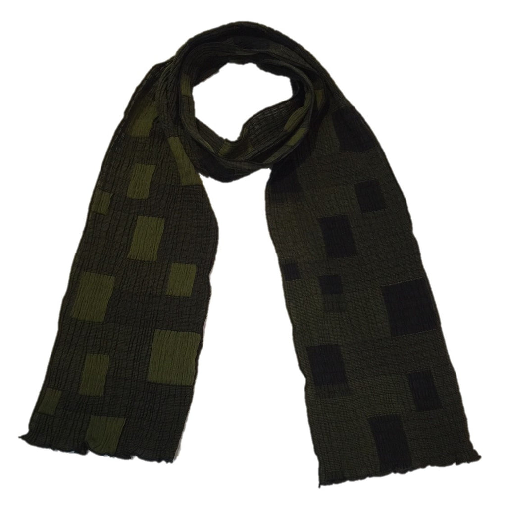 "NUNO Narrow Shawl: ""Skylight"" (Green/Black)"