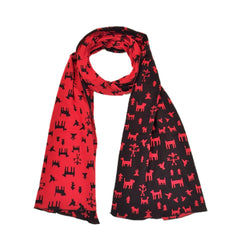 "NUNO Scarf: ""Mexicana"" (Red/Black)"