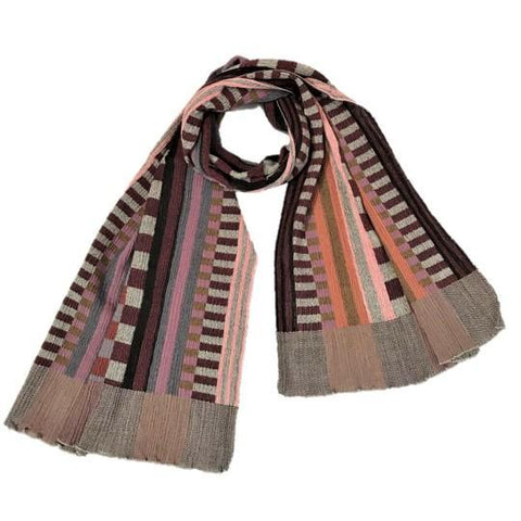 "NUNO Shawl: ""Prime Stripes"" (Red/Black)"