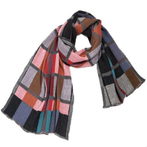 "NUNO Shawl: ""Color Gamp"" (Red Mix)"