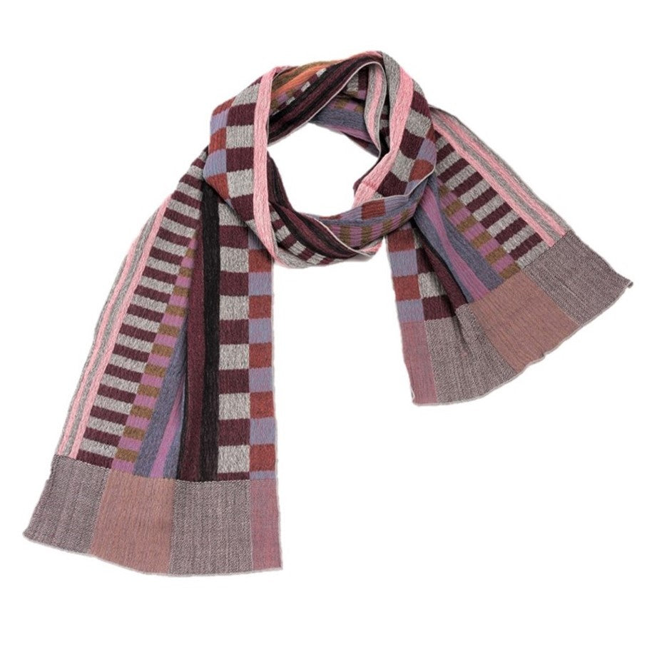 "NUNO Narrow Shawl: ""Prime Stripes"" (Pink/Beige)"