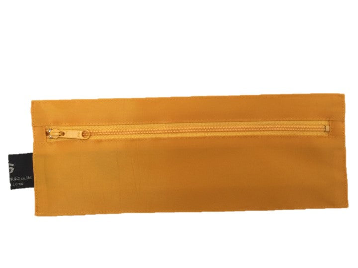 "NUNO Oblong Zippered Case: ""Coal"" (Saffron)"