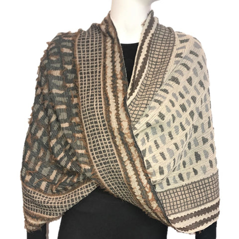 "NUNO Infinity Shawl/Shrug: ""Shards"" (Camel Mix)"