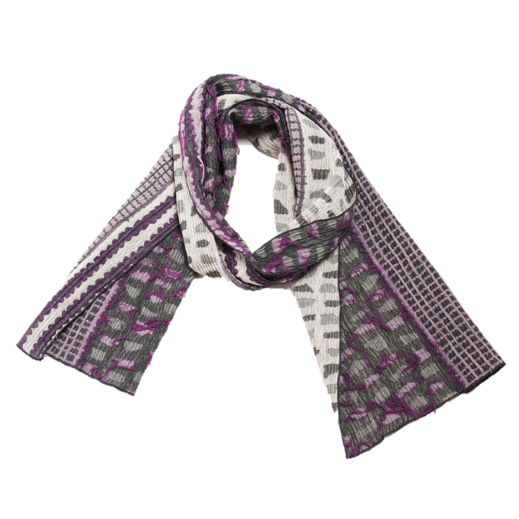 "NUNO Narrow Shawl: ""Shards"" (Purple Mix)"