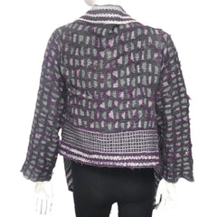 "NUNO Shawl Jacket: ""Shards"" (Purple Mix)"
