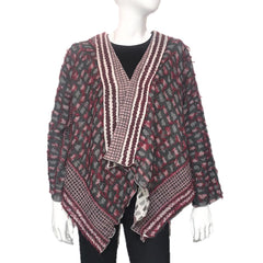 "NUNO Shawl Jacket: ""Shards"" (Red Mix)"