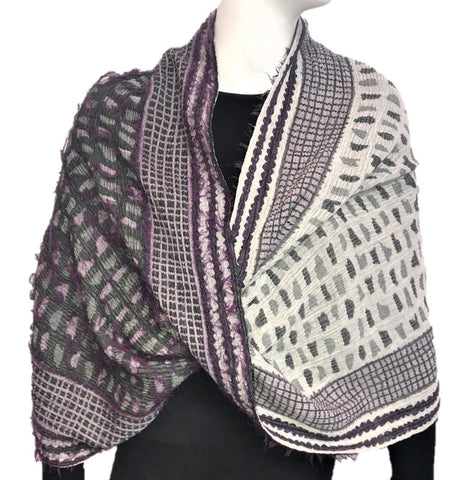 "NUNO Infinity Shawl/Shrug: ""Shards"" (Purple Mix)"