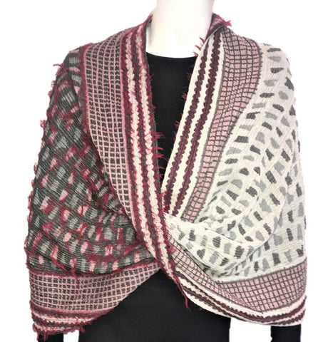 "NUNO Infinity Shawl/Shrug: ""Shards"" (Red Mix)"