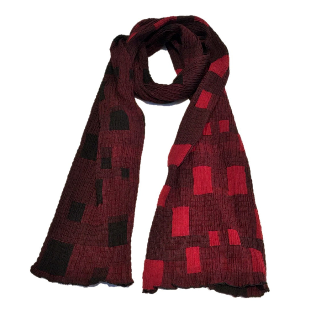 "NUNO Shawl: ""Skylight"" (Red/Black)"