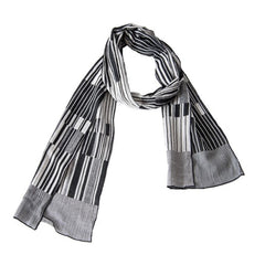 "NUNO Scarf: ""Keyboard"" (White/Black)"