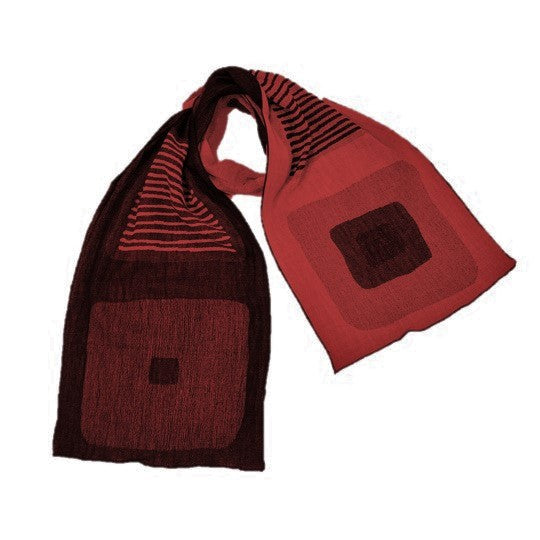 "NUNO Scarf: ""Stain"" (Red/Black)"