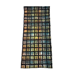 "NUNO Scarf/Runner: ""Stained Glass"" (Black Mix)"