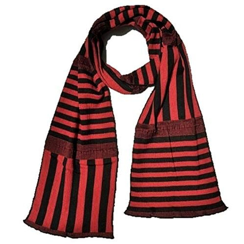 "NUNO Narrow Scarf: ""Stripy Stripe"" (Red/Black)"
