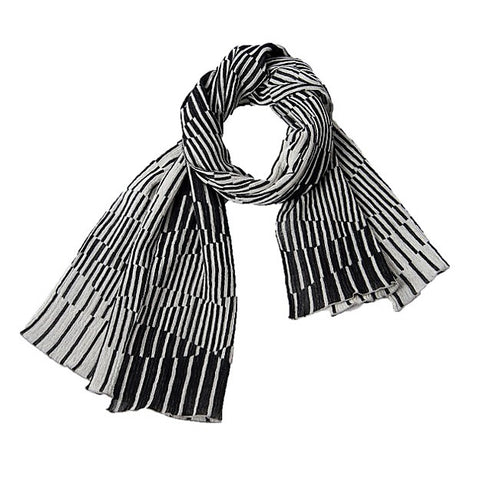 "NUNO Shawl: ""Surf"" (Black/White)"