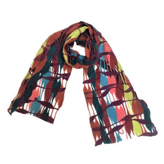 "NUNO Scarf: ""Threadstay"" (Brown/Pink Mix)"