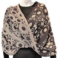 "NUNO Infinity Shawl/Shrug: ""Tires"" (Brown)"