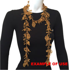 "NUNO Lace Necklace: ""Dunhuang"" (Black)"