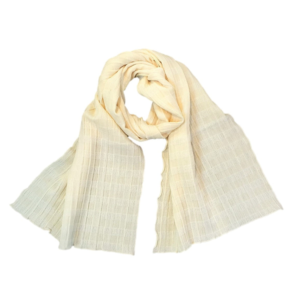 "NUNO Scarf: ""Masu"" (Natural White)"