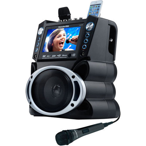 "KaraokeUSA GF-840 DVD/CDG/MP3G System with 7"" TFT Color Screen"