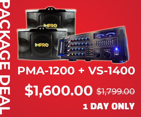 PMA-1200 + VS-1400 Package Deal